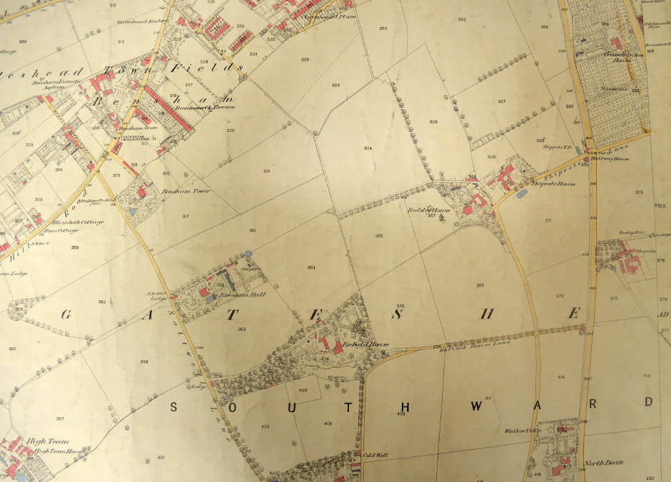 Map of Bensham 1858