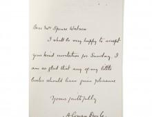 Letter from Arthur Conan Doyle to Elizabeth Spence Watson