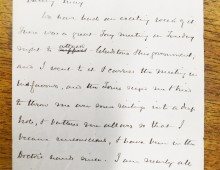 Letter from Robert to Mabel concerning the attack on Robert