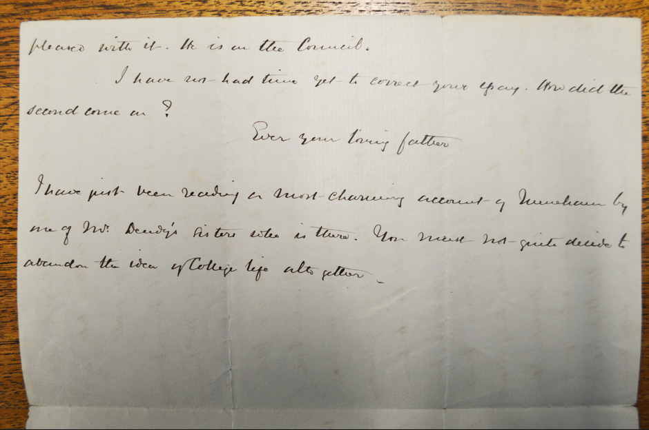 Letter from Robert to Mabel