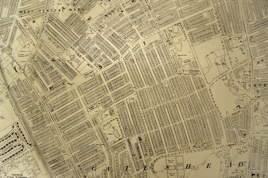 Map of Bensham 1939